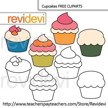 Cupcakes clip art free resource