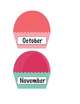 Cupcakes for Birthday Bulletin Board