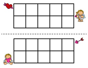 Cupid Addition with Ten Frames FREEBIE