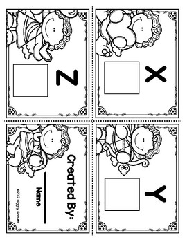 Cupid Cuties Letters Uppercase Lowercase Mini Book