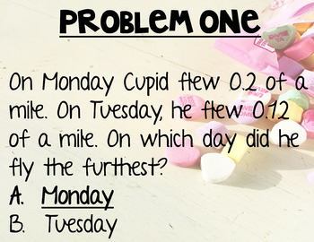 Cupid Dash Valentine's Day Math Practice (4th grade)