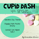 Cupid Dash Valentine's Day Math Practice (4th grade)