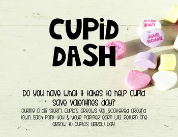 Cupid Dash Valentine's Day Math Practice Kindergarten