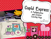 Valentine Multiplication and Division: Cupid Express Coloring Sheet