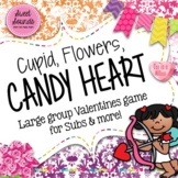 Cupid Flowers Candy Heart Valentine Freeze - Smart Board Game and Printables
