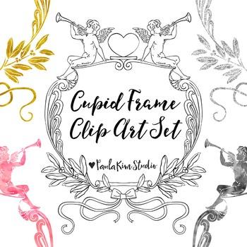 Cupid Frame Clip Art Set