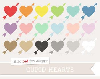Cupid Heart Clipart; Valentine's Day, Arrow