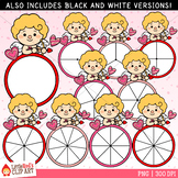 Cupid Valentine's Day Spinners Clip Art