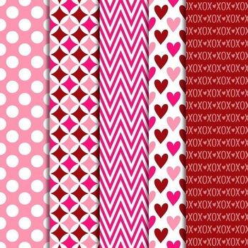 Digital Paper and Frame Mini Set Valentine's Day