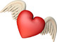 Cupid and Hearts 3d Render Clip Art for Commercial Use