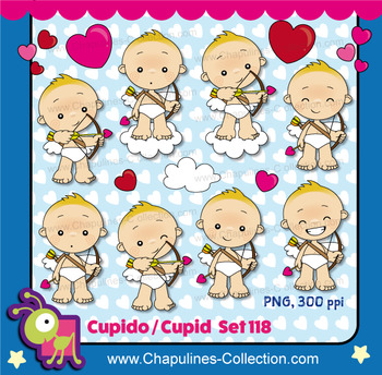 Cupid clipart, hearts, love, Valentine's day images Set 118