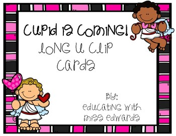 Cupid is Coming! Long U Clip Cards