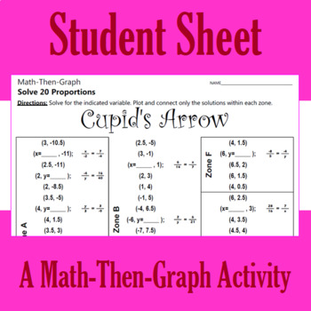 Cupid's Arrow - A Math-Then-Graph Activity - Solving Proportions