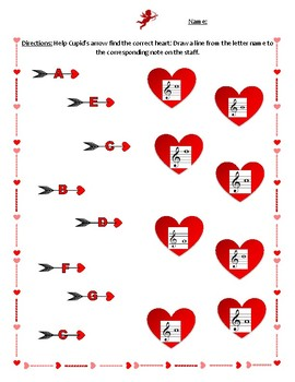 Valentine's Day Cupid's Arrow Note Match-up