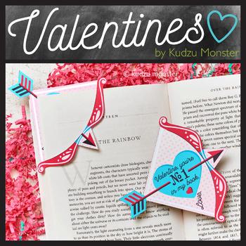 Cupid's Arrow Valentine Bookmark