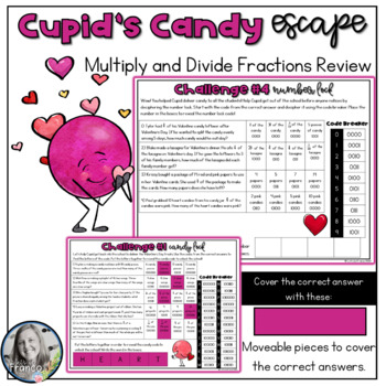 Cupid's Candy Escape Multiply and Divide Fraction