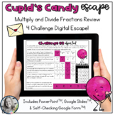 Cupid's Candy Escape Valentine's Day Multiply and Divide Fraction