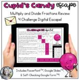 Multiply and Divide Fraction Review Digital Escape Activit
