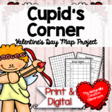 Cupid's Corner:  Valentine's Area and Perimeter Map Project