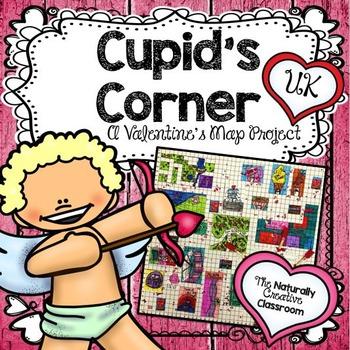 Cupid's Corner:  Valentine's Area and Perimeter Map Project UK