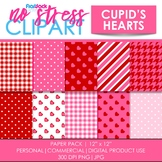 Cupid's Hearts Digital Papers