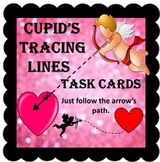 Cupid's Tracing Task Cards Valentines Themed