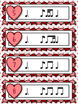 Cupid's Arrow Rhythm Games for Practicing tom-ti or tam-ti