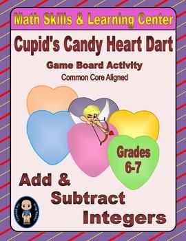 Valentine's Math Skills & Learning Center (Adding & Subtracting Integers)