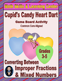 Valentine's Math Skills & Learning Center (Improper Fractions & Mixed Numbers)