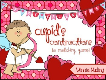 Cupid's Contractions {A Matching Game} FREEBIE!