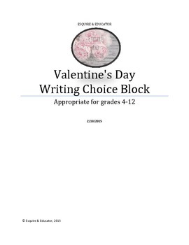 Cupid's Curse: Valentine's Day Writing Blocks