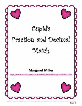 Cupid's Fraction and Decimal Match
