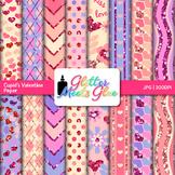 Cupid's Valentine Paper {Scrapbook Backgrounds for Task Cards & Brag Tags}