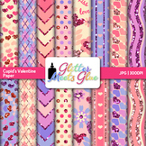 Cupid's Valentine Paper {Scrapbook Backgrounds for Task Ca