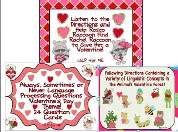 Cupid's Target:  Three Language Processing Lessons - Valentine's Day Themed