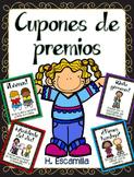 Cupones de premios - Reward Coupons in Spanish