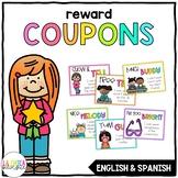Reward Coupons / Cupones de Premios {English & Spanish}