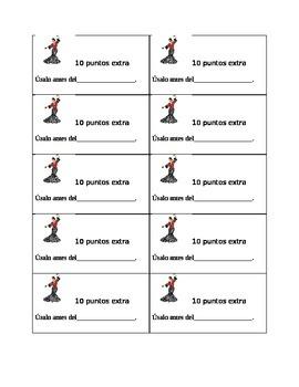 Spanish: Cupones para puntos extras