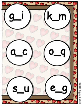 Cuppy Cakes Missing Letter File Folder Game