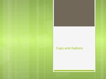 Cups and Gallons Powerpoint