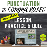 Curing Comma-itis: 10 Comma Rules Presentation