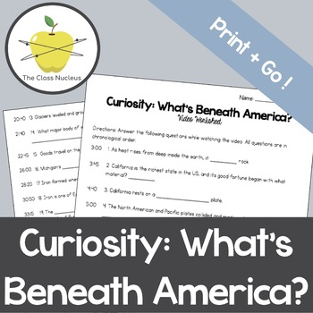 Curiosity: What's Beneath America? Video Worksheet