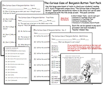 Curious Case of Benjamin Button Test Pack