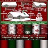 Curious Christmas Bundle Page Kit Transparent PNG Commerci
