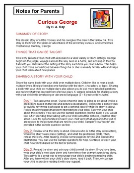 Curious George Parent Notes