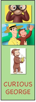 Curious George Bookmarks
