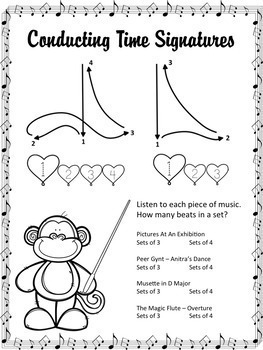 """Conducting The Orchestra music lesson to go with """"Curious George Beats The Band"""""""