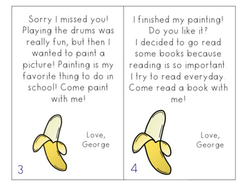 Curious George First Day of School Tour Cards