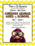 Curious George Goes to School  - Journeys First Grade Print and Go