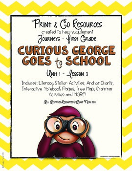 Curious George Goes to School  - Journeys First Grade Prin